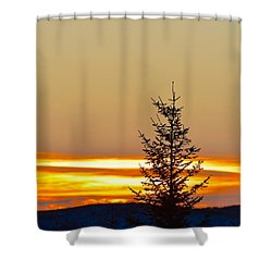 Sunrise On A Sunday Morning Shower Curtain
