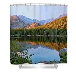 Sunrise On Bear Lake Rocky Mtns Shower Curtain by Teri Brown