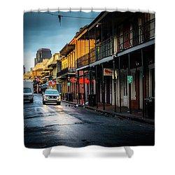 Sunrise On Bourbon Street Shower Curtain