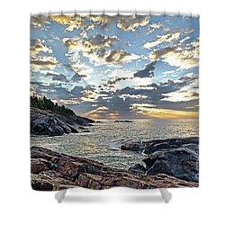 Sunrise On Christmas Cove Shower Curtain