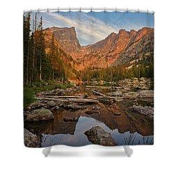 Sunrise On Dream Lake Shower Curtain