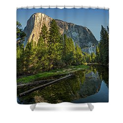 Sunrise On El Capitan Shower Curtain by Peter Tellone
