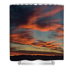 Sunrise On Fire Shower Curtain