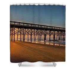 Shower Curtain featuring the photograph Sunrise On Folly Island by Rikk Flohr