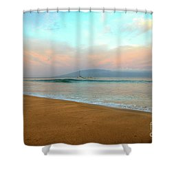 Shower Curtain featuring the photograph Sunrise On Ka'anapali by Kelly Wade