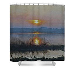 Sunrise On Lake Hollingsworth Shower Curtain by Michael Nowak