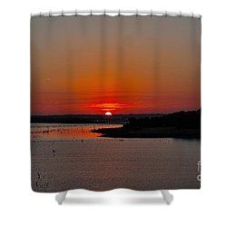 Shower Curtain featuring the photograph Sunrise On Lake Ray Hubbard by Diana Mary Sharpton