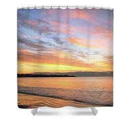 Sunrise On Middletown Rhode Island Shower Curtain by Roupen  Baker