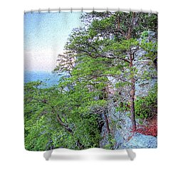 Shower Curtain featuring the photograph Sunrise On Mount Cheaha by JC Findley
