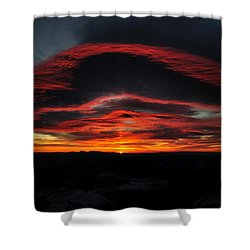 Sunrise On Rainier Shower Curtain