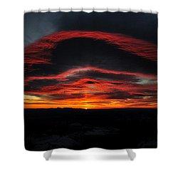 Sunrise On Rainier Shower Curtain