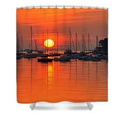 Sunrise On Salem Harbor Salem Ma Shower Curtain