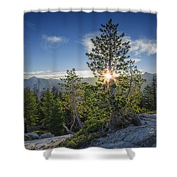 Sunrise On Sentinel Dome Shower Curtain by Rick Berk