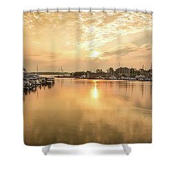 Sunrise On Spa Creek Shower Curtain