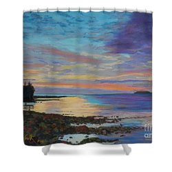 Sunrise On Tancook Island  Shower Curtain by Rae  Smith PAC