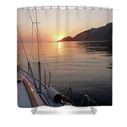 Sunrise On The Aegean Shower Curtain