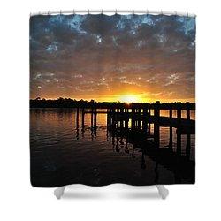 Sunrise On The Bayou Shower Curtain