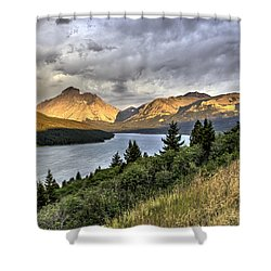 Sunrise On The Bitterroot River Shower Curtain by Alan Toepfer