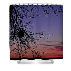 Sunrise On The Colorado Plains Shower Curtain by Adrienne Petterson