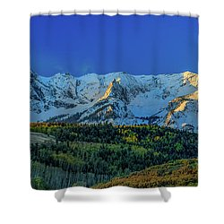 Sunrise On The Dallas Divide Shower Curtain