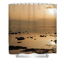 Sunrise On The Dead Sea Shower Curtain