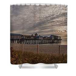 Sunrise On The Empty Beach Shower Curtain