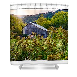 Sunrise On The Farm Shower Curtain by R Thomas Berner