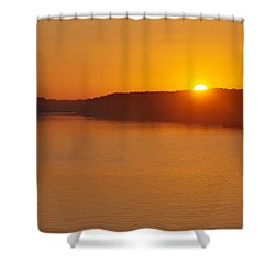 Shower Curtain featuring the photograph Sunrise On The Ferry by Greg Graham