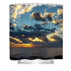 Sunrise On The French Riviera Shower Curtain