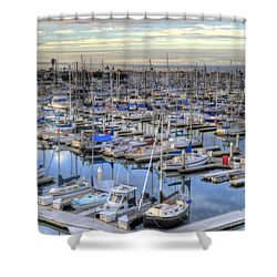 Sunrise On The Harbor Shower Curtain