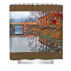 Sunrise On The I And  M Canal Shower Curtain