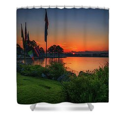 Shower Curtain featuring the photograph Sunrise On The Neuse 2 by Cindy Lark Hartman