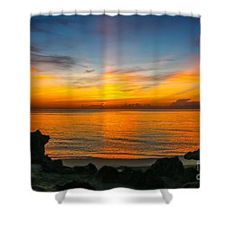 Sunrise On The Rocks Shower Curtain
