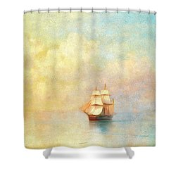 Sunrise On The Sea Shower Curtain by Georgiana Romanovna