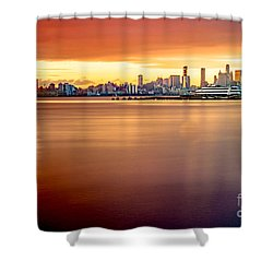 Sunrise On The Weehawken Waterfront Shower Curtain