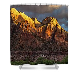 Sunrise On Zion National Park Shower Curtain