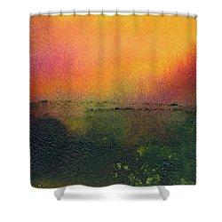 Sunrise Over A Marsh Shower Curtain