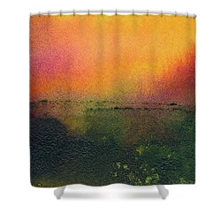 Sunrise Over A Marsh Shower Curtain