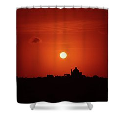 Sunrise Over A Small Town Shower Curtain by Stephan Grixti