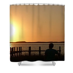 Shower Curtain featuring the photograph Sunrise Over Assateaque by Donald C Morgan