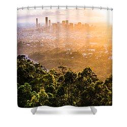 Sunrise Over Brisbane Shower Curtain