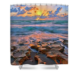 Sunrise Over Carlin Park In Jupiter Florida Shower Curtain