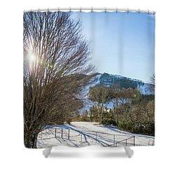 Sunrise Over Cataloochee Ski Shower Curtain