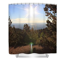 Sunrise Over Colorado Springs Shower Curtain
