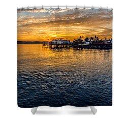 Sunrise Over Commencement Bay Tacoma, Wa Shower Curtain