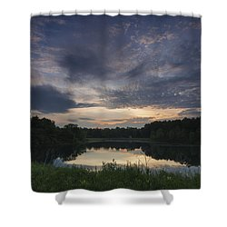 Sunrise Over Indigo Lake Shower Curtain