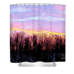 Sunrise Over Lake Shower Curtain by Craig Walters