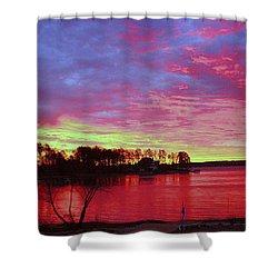 Sunrise Over Lake Murray Shower Curtain