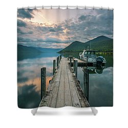 Sunrise Over Lake Rotoroa Shower Curtain