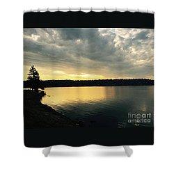 Sunrise Over Lake Washington Shower Curtain